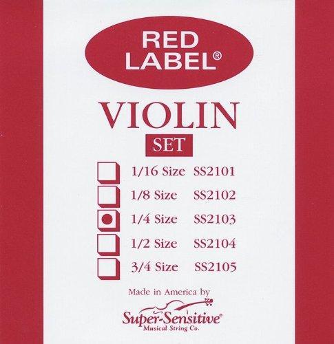 Red Label Super Sensitive  2103 Violin String Set, 1/4