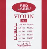 Red Label Super Sensitive  2103 Violin String Set, 1/4