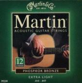 Martin M500 Phosphor Bronze 12-String Acoustic Guitar Strings, Extra Light