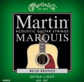 Martin M1000 Marquis 80/20 Bronze Extra Light Acoustic Guitar Strings