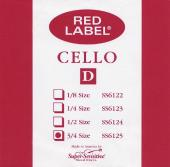 Super Sensitive Red Label 6125 Cello D String, 3/4