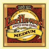 Eb Earthwood Med.Ernie Ball 2002 Earthwood 80/20 Bronze Acoustic String Set, Medium (13- 56