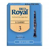 Rico Royal Clarinet Reeds (French Cut) Box of 10